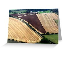 "UK: ""Fields of Gold"", Gloucestershire Greeting Card"