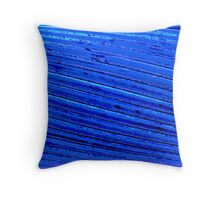 Wired and Blue Throw Pillow