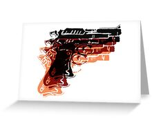 Warhol Guns Greeting Card