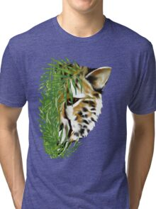 Cheetah and Grass  Tri-blend T-Shirt