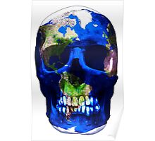"""LuxeMyth"" Human-Caused Climate Change Earth Skull  Poster"