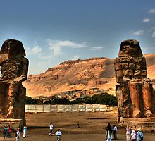 The Colossi of Memnon by Roddy Atkinson