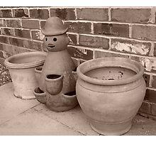 Potty pots Photographic Print