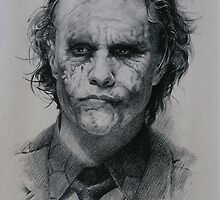 Heath Ledger as Joker from The Dark Knight (2008) by celebritysketch