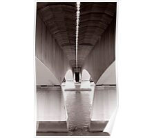 under the bridge - Captain cooks bridge Poster