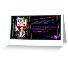 """No On Prop 8"" Greeting Card"