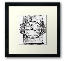 Time Written in Stone Framed Print