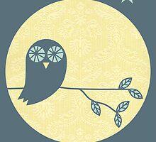 Owl & Moon by Bek Thompson