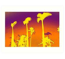 Purple Palm trees Art Print