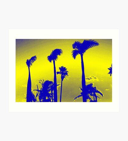 Yellow Palm Trees Art Print