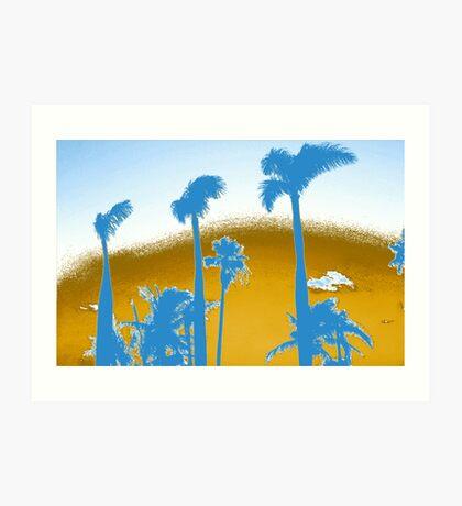 Chrome Palm Trees Art Print