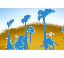 Chrome Palm Trees Photographic Print