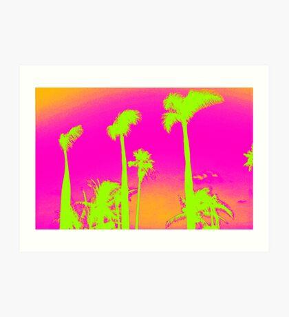 Pink Palm Trees Art Print