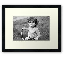 Tricycle Training Framed Print