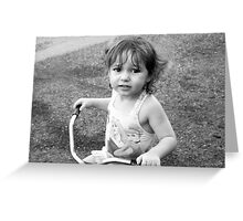 Tricycle Training Greeting Card