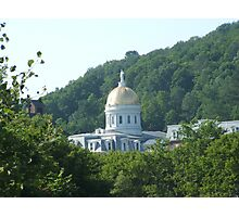 Vermont State Capital in Montpelier. Photographic Print