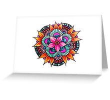 Colourful Mandala Greeting Card