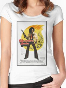 Cleopatra Jones (Red) Women's Fitted Scoop T-Shirt