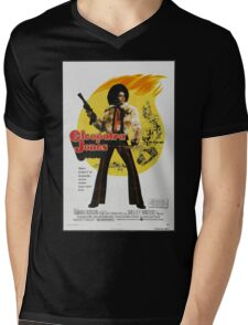 Cleopatra Jones (Red) Mens V-Neck T-Shirt