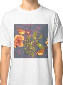 Seamless floral background with petunia Classic T-Shirt