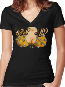 Bosom Buddy Tshirt Women's Fitted V-Neck T-Shirt