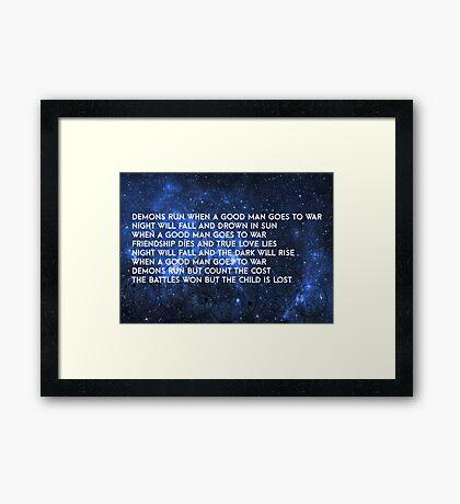 Doctor Who - Demons Run Framed Print