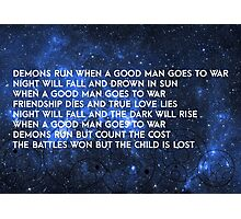Doctor Who - Demons Run Photographic Print