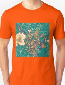 Seamless floral background with petunia Unisex T-Shirt