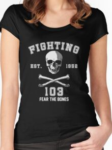 Fighting 103 Jolly Rogers Women's Fitted Scoop T-Shirt