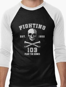 Fighting 103 Jolly Rogers Men's Baseball ¾ T-Shirt