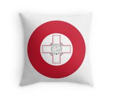 Roundel of the Maltese Air Force Throw Pillow
