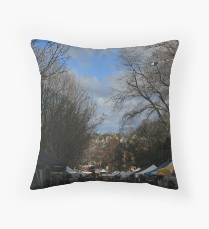 Salamanca Market Throw Pillow