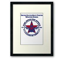 Top Gun Class of 86 - Weapon School Framed Print