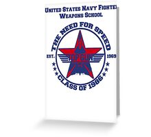 Top Gun Class of 86 - Weapon School Greeting Card