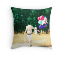 If you carry your childhood with you, you never become older. Throw Pillow