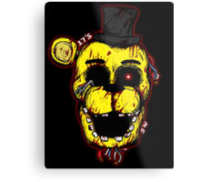 Bloody Golden Freddy FNAF Metal Print