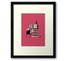 Music Zebra Framed Print