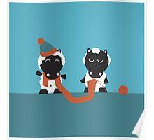 Knitting sheep Poster