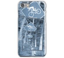 Bicycle Caution Traffic Sign iPhone Case/Skin