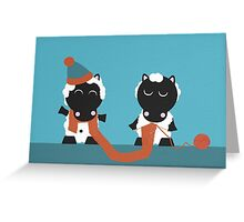 Knitting Sheep Greeting Card