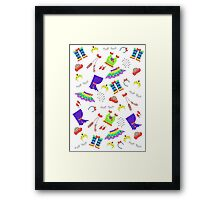 Dance is in the air (white version) Framed Print