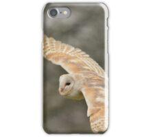 Barn owl in the rain iPhone Case/Skin