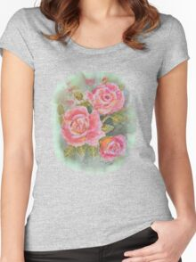 PINK POSY  I PAD CASES/PHONECASE,TEE SHIRT,STICKER/ART Women's Fitted Scoop T-Shirt