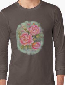 PINK POSY  I PAD CASES/PHONECASE,TEE SHIRT,STICKER/ART Long Sleeve T-Shirt