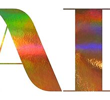 HAIM Rainbow Oil Slick Logo by okayfinepaloma