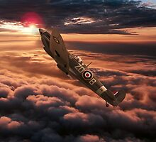 Spitfire Sundown  by J Biggadike