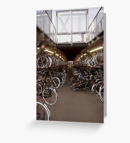 Bicycles Park  Greeting Card