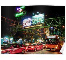 Streets of Bangkok, Thailand Poster