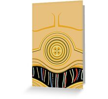 C3PO Pillow Greeting Card