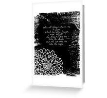 Baudelaire - Poetry Greeting Card